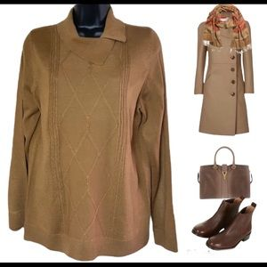 Alia brown knitted sweater size M